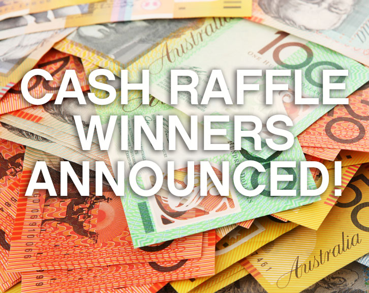 Cash Raffle winners!!