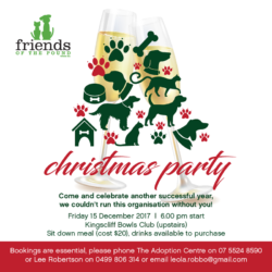Book now for our 2017 Xmas Party!